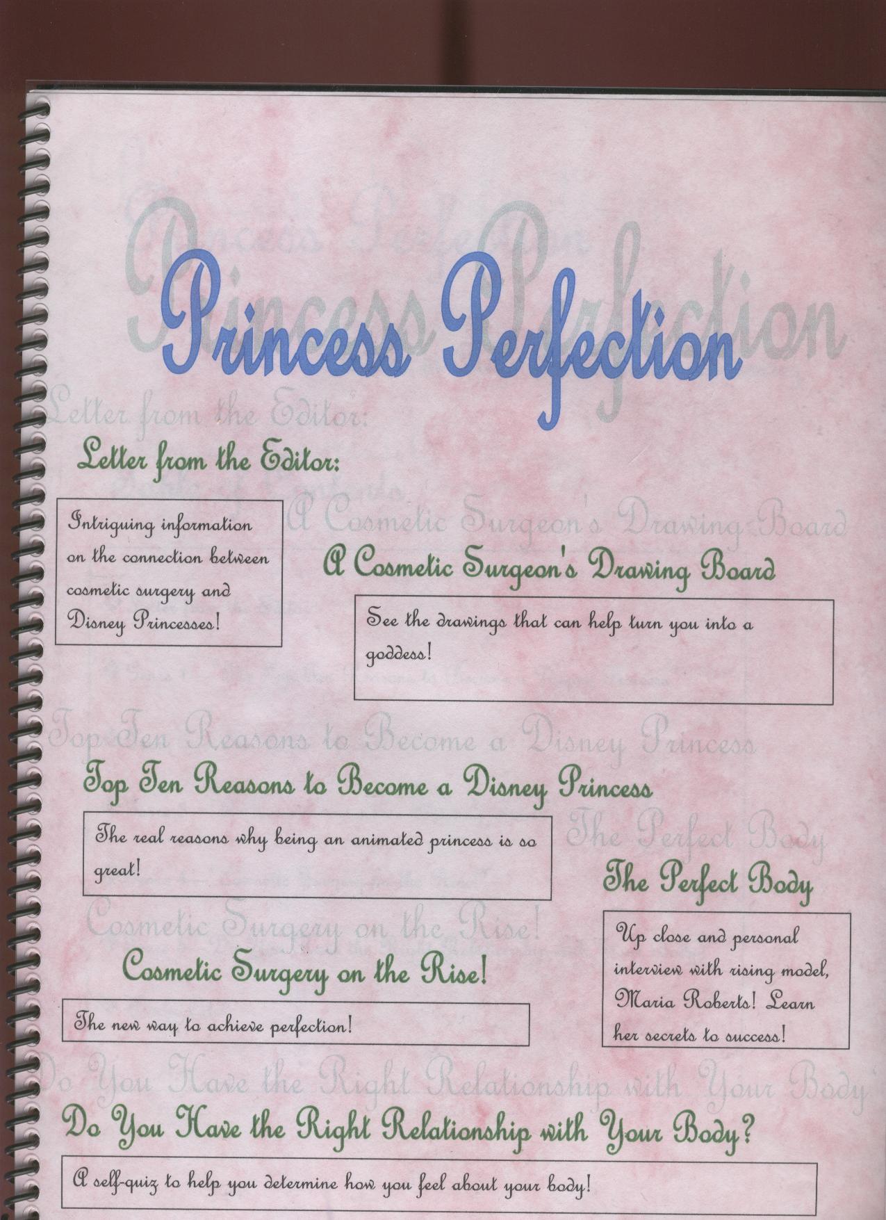 Princess writing